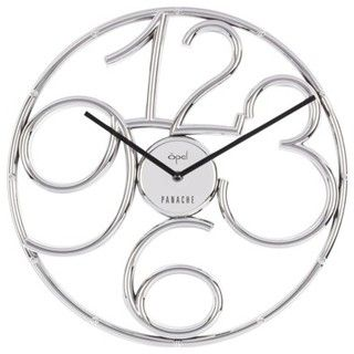 Ultra Modern Steering Wheel Shaped ABS Moulded Clock, Chrome Finish Figures - contemporary - clocks - by Target