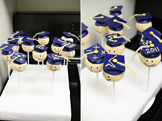 Graduation Cake Pops. I want to try to make these for a