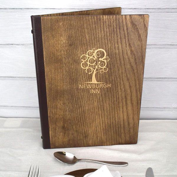 Wooden Menu Covers / Original wood menus from Menushop