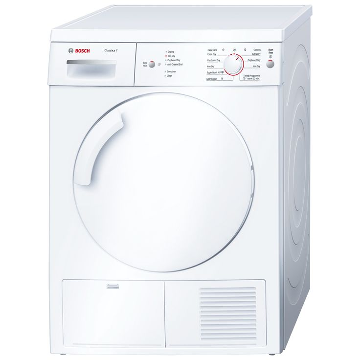 Buy Bosch Classixx WTE84106GB Sensor Condenser Tumble Dryer, 7kg Load, B Energy Rating, White from our Tumble Dryers range at John Lewis. Free Delivery on orders over £50.