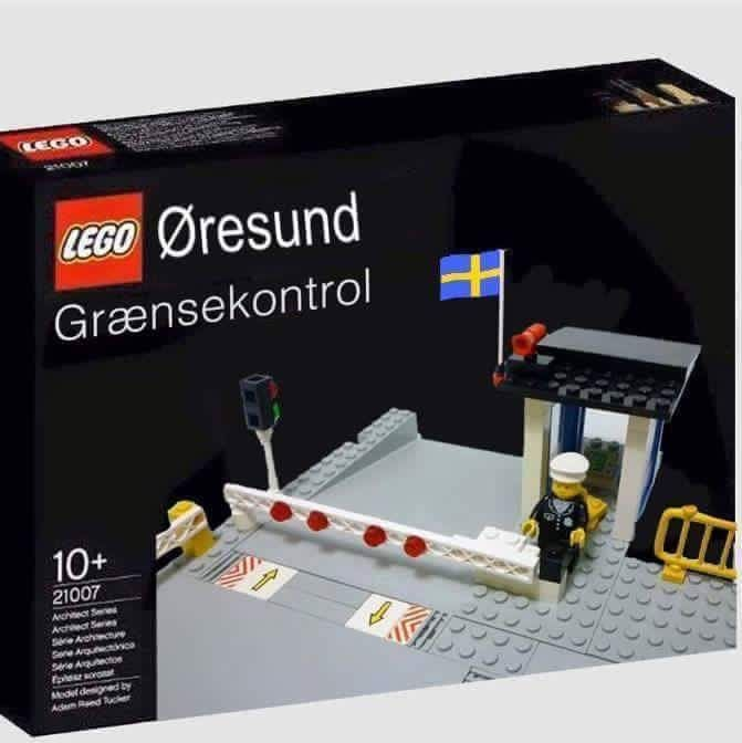 Border Control between Sweden and Denmark, the new Lego toy.