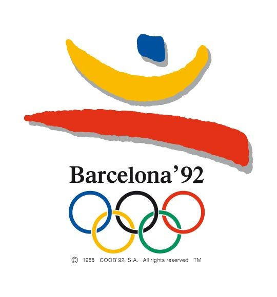 Official logo for the 1992 Olmypic games in Barcelona