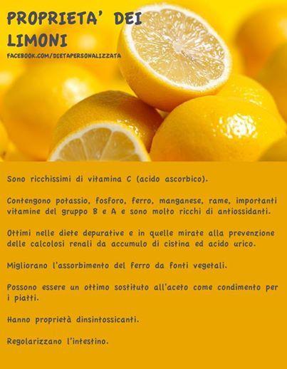 Proprietà dei limoni.