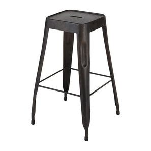 Tabouret De Bar Indus En Metal Noir Jim Deco Furniture