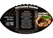 4x7 in One Team Chicago Bears Football Schedule