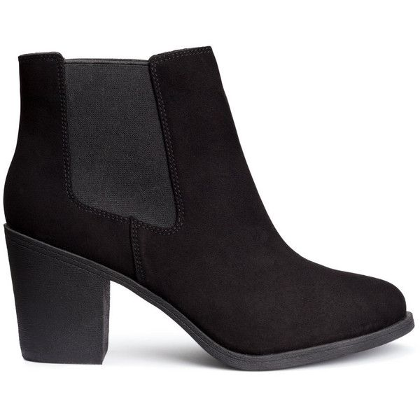H&M Ankle boots ($36) ❤ liked on Polyvore featuring shoes, boots, ankle booties, botas, h&m, heels, black, black high heel boots, black boots and high heel ankle booties
