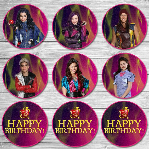 The Descendants Cupcake Toppers