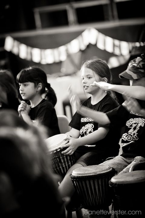 A school party with the Drum Cafe