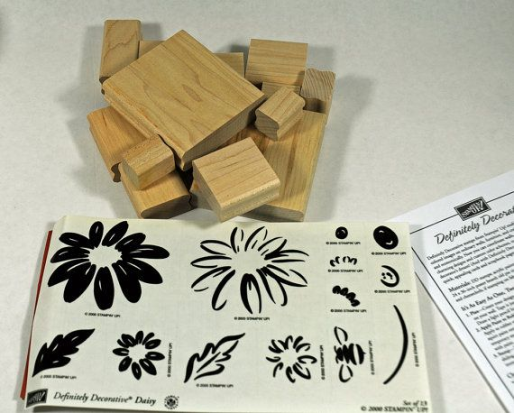 """Stampin Up Stamp Set """"Definitely Decorative Daisy"""" MINT UNMOUNTED  #annswhimsey $17.00"""