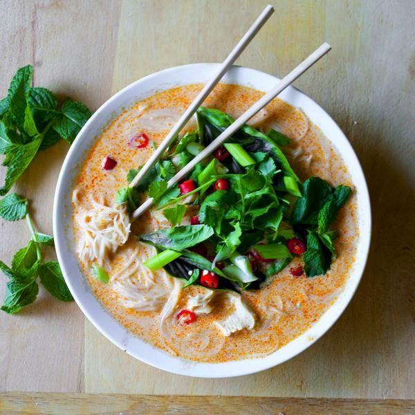 Тайский куриный суп по рецепту Джейми Оливера