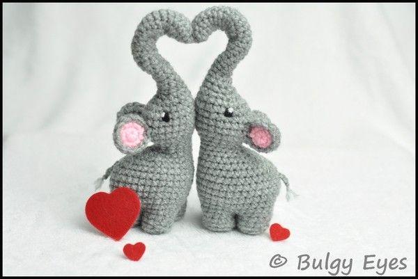 Du magst Elefanten und häkelst gern? Dann hol Dir gleich die Anleitung für die Elefanten mit Herz ++ häkle eine liebe Überraschung für eine nette Person.