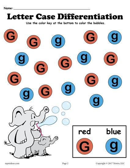 FREE Letter G Do-A-Dot printable for letter case differentiation practice. Also includes a customizable Do-A-Dot letter G worksheet where you can choose your own colors! Great for preschoolers and toddlers. Get both letter G worksheets here --> http://www.mpmschoolsupplies.com/ideas/7569/free-letter-g-do-a-dot-printables-for-letter-case-differentiation-practice/