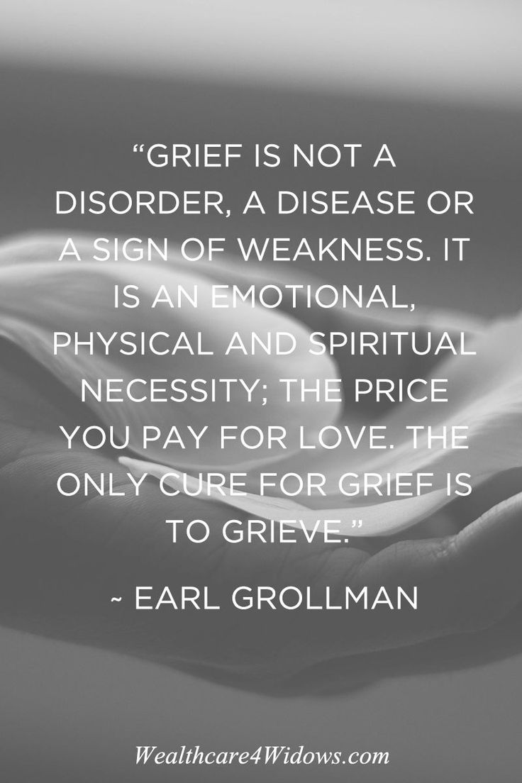 Grief is necessary.                                                                                                                                                                                 More