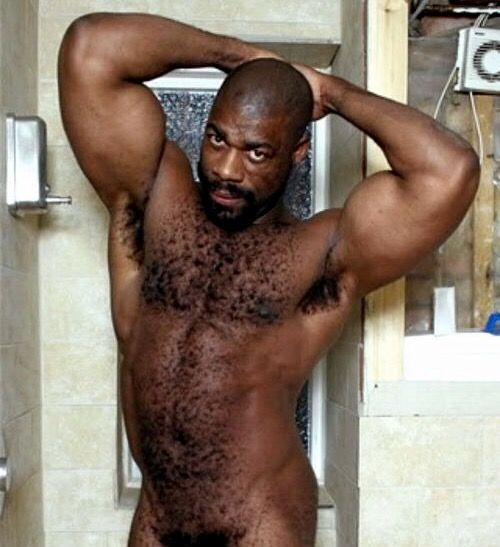 Hairy old men Naked black
