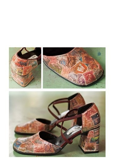 Great idea for decoupaging shoes...