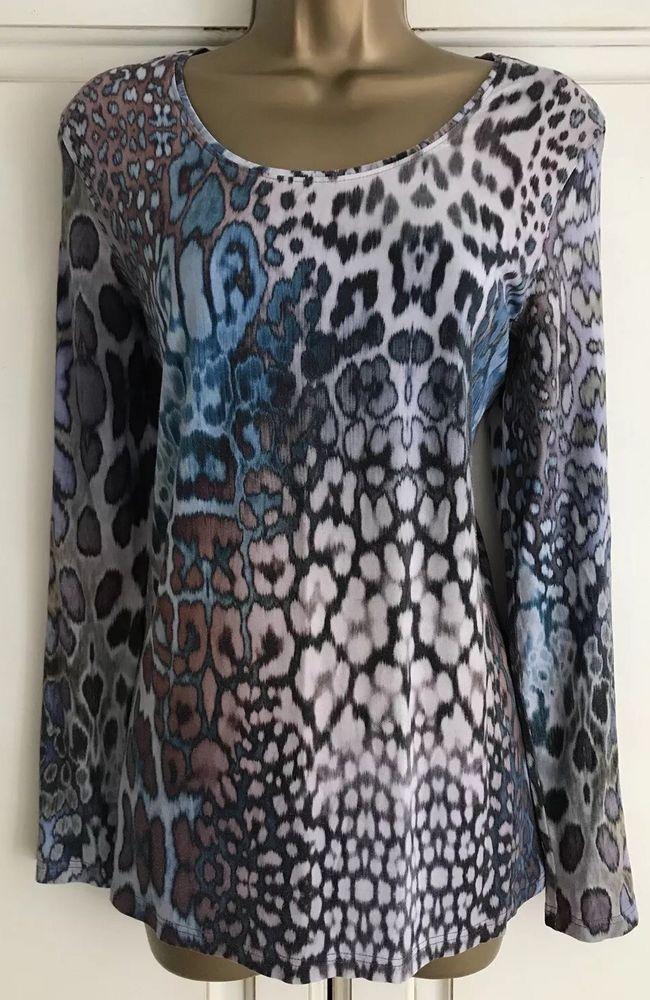 e6227eb9e391 LADIES PETER HANN GREY BLUE PURPLE ANIMAL PRINT TOP SIZE 16 #fashion # clothing #shoes #accessories #womensclothing #tops (ebay link)