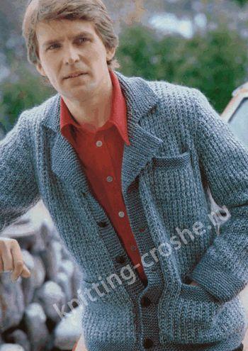 Мужской вязаный пиджак 50-52