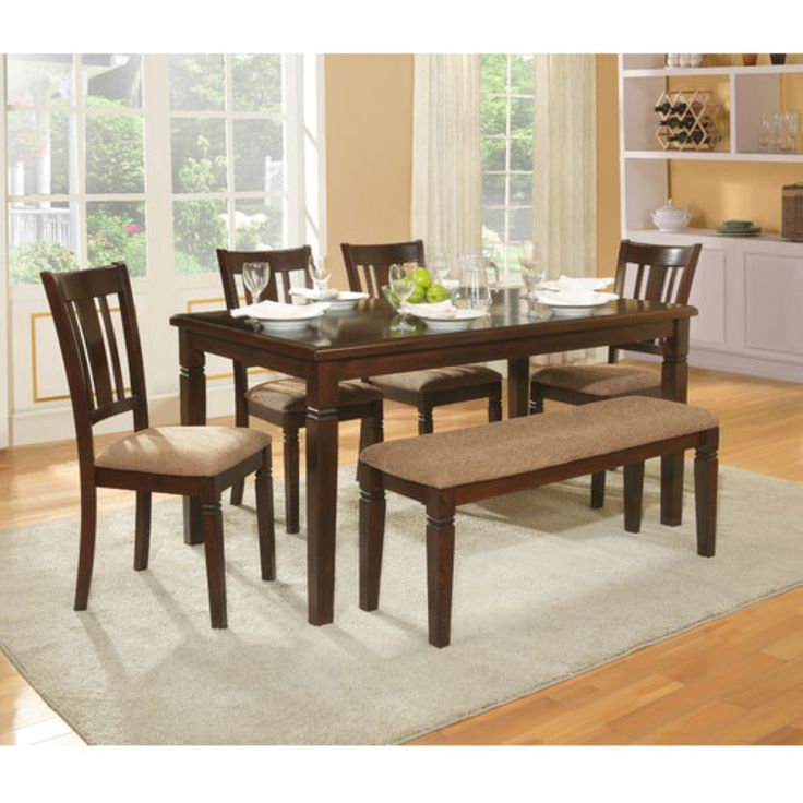 48 Farmhouse Style Kitchen Table Set With Bench