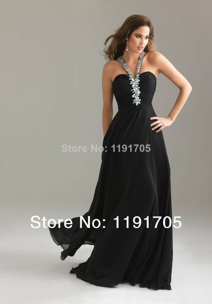 Plain Black Prom Dresses 2014