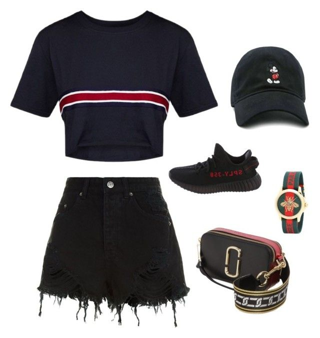"""Untitled #33"" by angeline-mewengkang on Polyvore featuring Ksubi, Yeezy by Kanye West, Marc Jacobs, Forever 21 and Gucci"