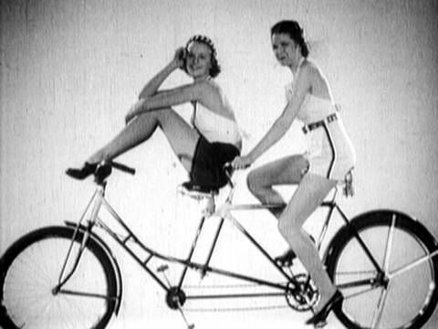 Sexy cute on a bike waaay back in 1936. Nothing new after all as far women and fashion and bicycles go