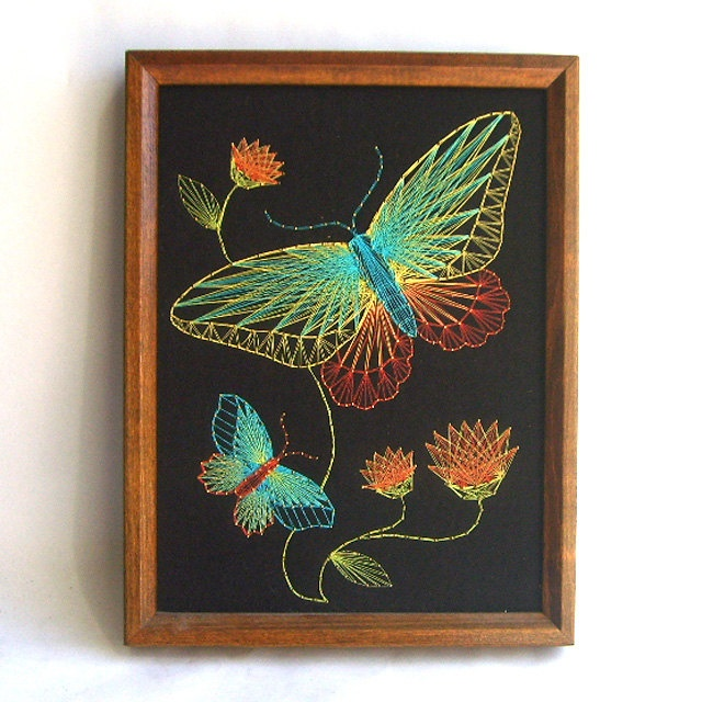 Vintage Butterfly String Art. $30.00, via Etsy.