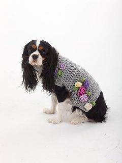 Crocheted dog sweater..from sizes small to x-large...Free pattern! Well,the dogs need presents too!