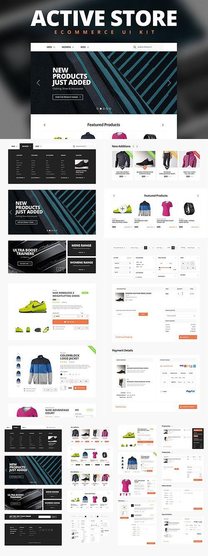 Active Store - Ecommerce UI Kit - CM 211041