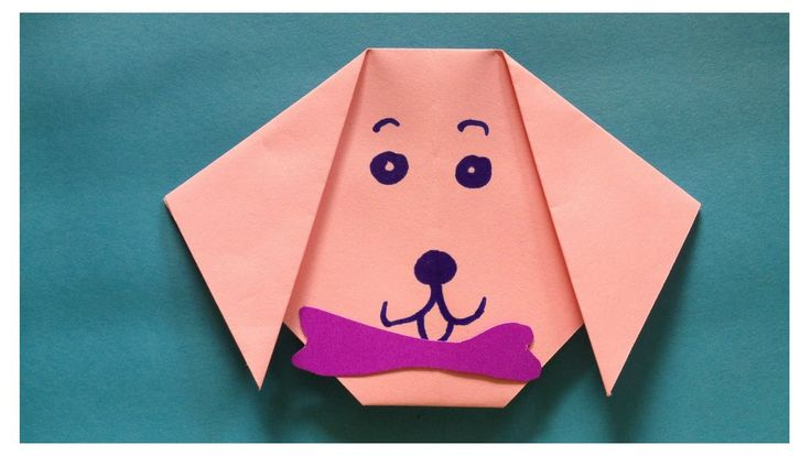 Origami dog face | Origami animals | Easy origami for kids