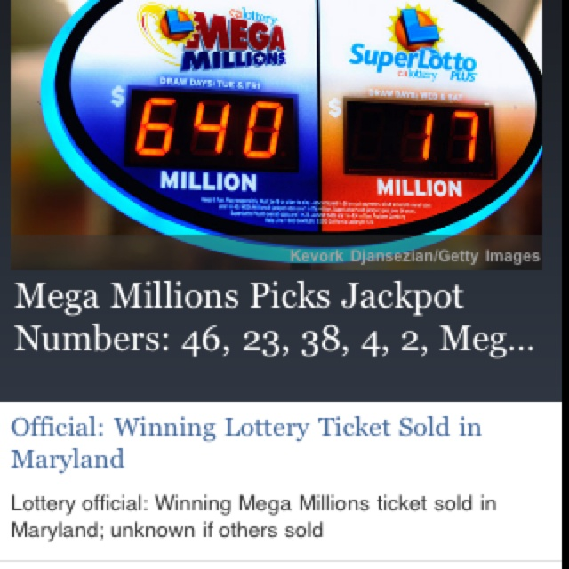 #MegaMillions winning numbers for Friday, March 30. Megaball is 23 for the $640 million jackpot. Winner in Baltimore County, Md.