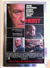 Heist Movie Poster 27x40 Used Gene Hackman, Charles S Doucet, Danny Blanco Hall, Don Jordan, Christopher Kaldor, Karen Cliche, Greg Goossen, Mike Paterson, Bill Rowat, Andreas Apergis, Patti LuPone, Danny DeVito, Rebecca Pidgeon, Ricky Jay