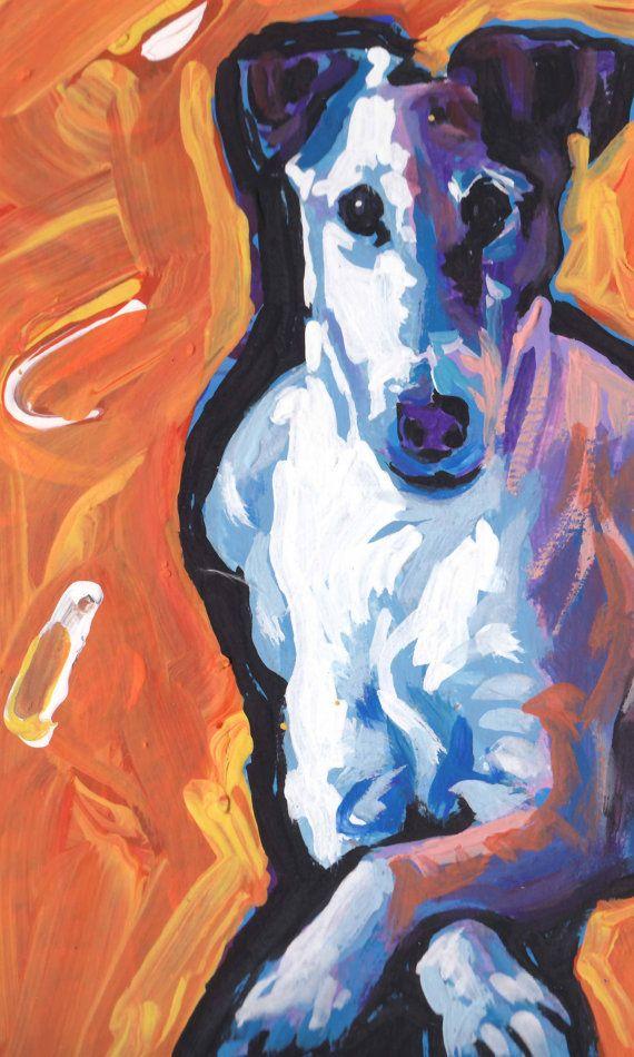 Smooth Fox Terrier (Boo) art print of modern Dog pop by BentNotBroken.
