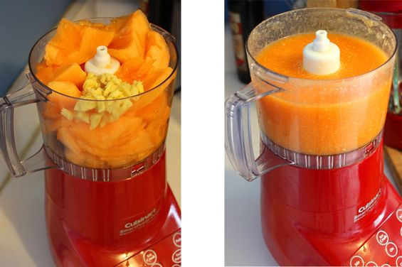 Chilled Cantaloupe Soup with Lemon and Ginger | Recipe
