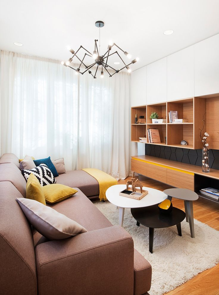 Bulgaria Apartment Features Sunny Pops of Yellow