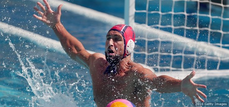 Merrill Moses, Water Polo   -    Merrill Moses blocks a shot against Croatia in the men's water polo preliminary round at the Maria Lenk Aquatics Centre on Aug. 6, 2016 in Rio de Janeiro.