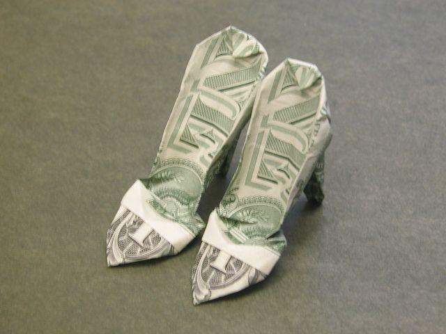 Dollar bill high hill shoes | Flickr - Photo Sharing!