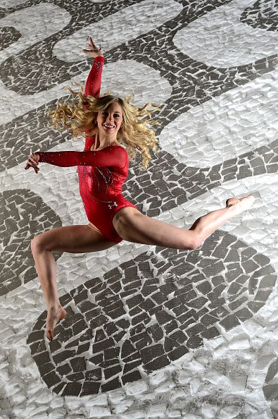 Gymnast MyKayla Skinner poses for a portrait at the USOC Rio Olympics Shoot at…