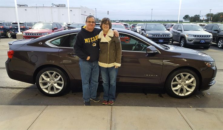 Dia and Randall, we're so excited for all the places you'll go in your 2015 CHEVROLET IMPALA!  Safe travels and best wishes on behalf of Landmark Chrysler Jeep Fiat and MARTIN HAMMERS.
