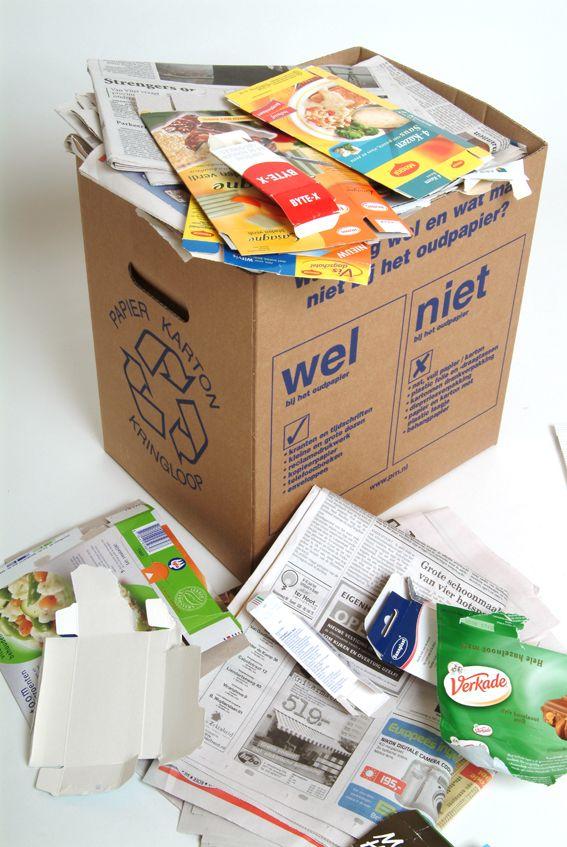 Scheidingsregels papier en karton. Wat mag er allemaal niet bij het oudpapier? Plastic hoesjes om reclamedrukwerk, koffiefilters, hygiëne- en sanitairpapier (tissues, luiers, toiletpapier, keukendoekjes etc.), geplastificeerd papier, carbonpapier, foto's en behang (incl. vinylbehang), kartonnen verpakkingen voor vloeibaar wasmiddel of wasverzachter. Dus geen papier of karton met verf-, olie- of voedselresten. Meer informatie: bekijk en download de scheidingswijzer.