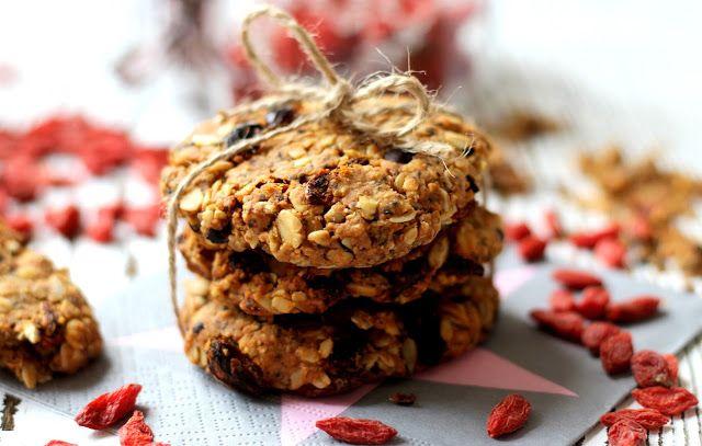 Ovesné sušenky s Goji a čokoládou