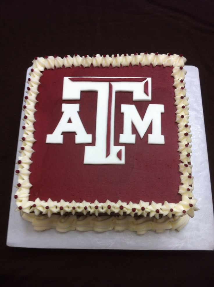 Cake Decorating Jokes : Aggie cake with a UT twist. This cake is burnt orange as a ...