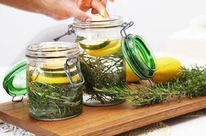 Un rimedio naturale contro le zanzare che decora la tavola