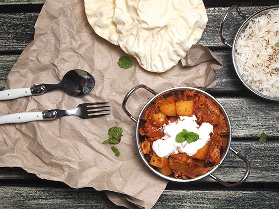 Forget meat, add jackfruit to your curry! Try my Jackfruit & Potato Curry Recipe.