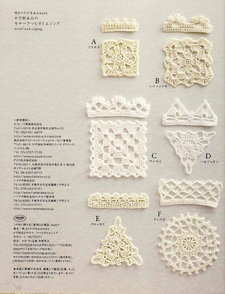 Hand Knitting Note - Crochet Motif and Edging