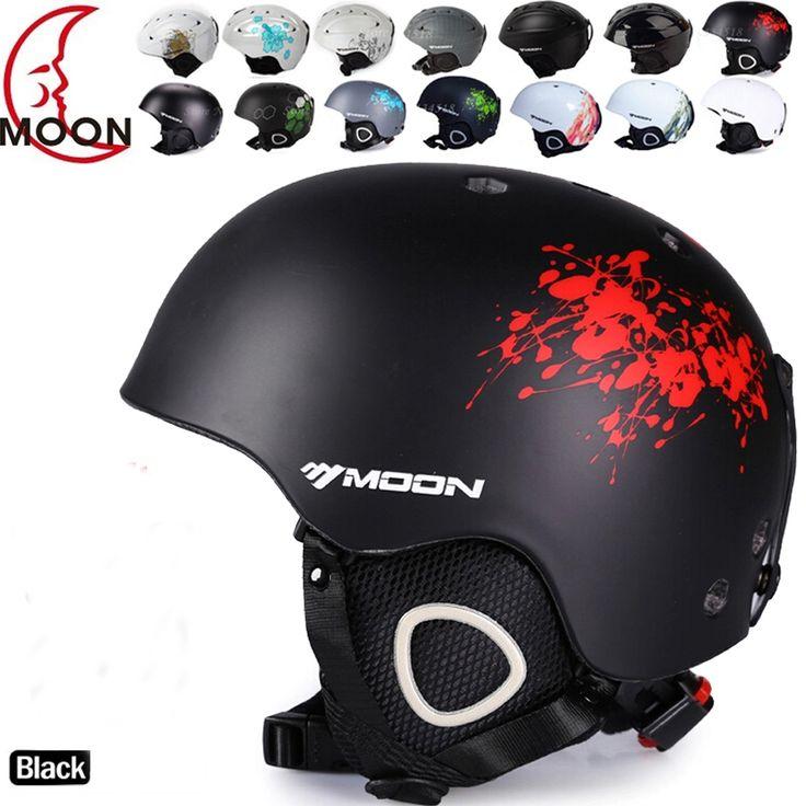 MOON Ski helmet Ultralight and Integrally-molded Breathable Snowboard helmet men women Skateboard helmet Multi Color