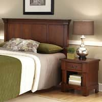 The Aspen Collection Rustic Cherry Queen/Full Headboard & Night Stand by Home Styles