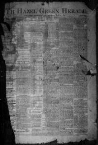 WOLFE COUNTY, Kentucky - Hazel Green - 1885-19?? - The Hazel Green Herald. « Chronicling America « Library of Congress