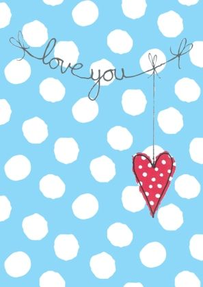 hanging heart by dots and spots