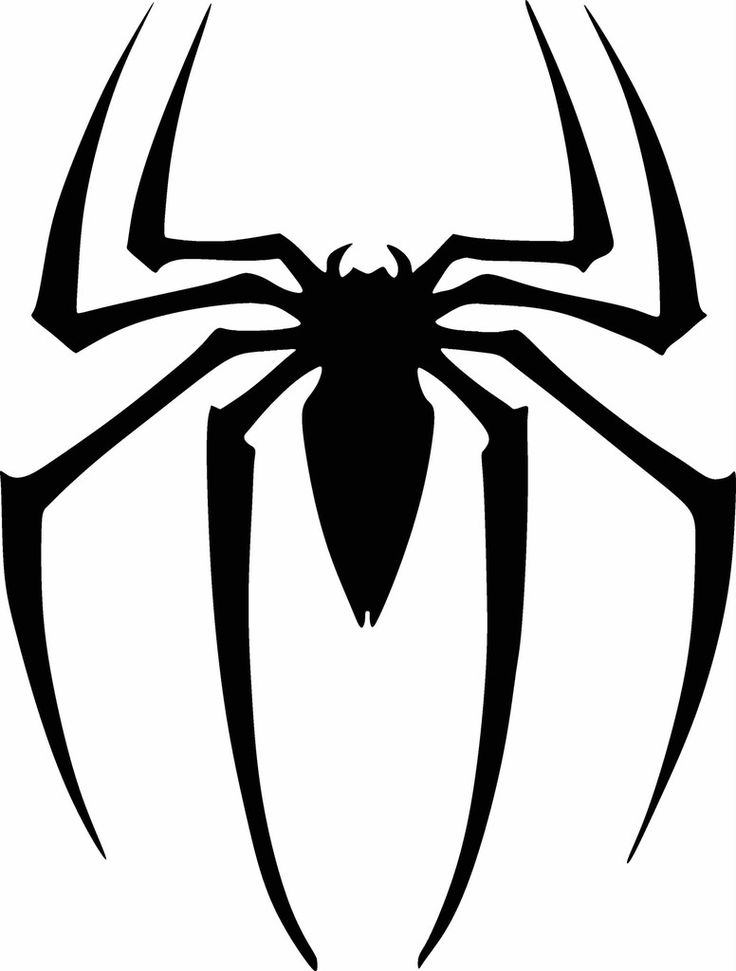coloring pages spiderman easy symbol - photo#36