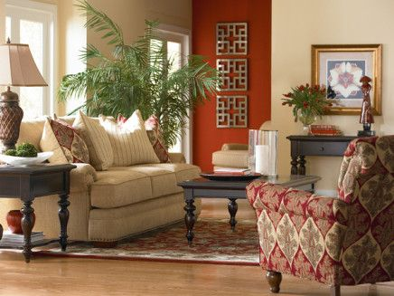 1000 ideas about red accent walls on pinterest red - Burnt orange feature wall living room ...
